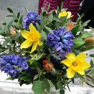 Påskliljor, hyacinther
