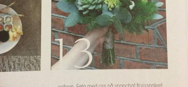 Fiori magazine visar en av våra brudbuketter